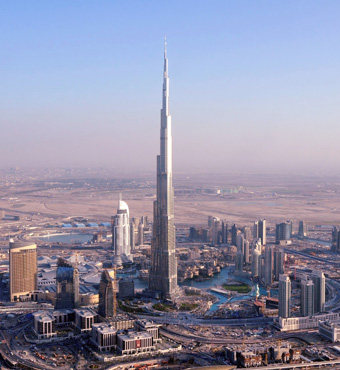 Major attractions around executive hotel al wasl al for Burj khalifa room rates per night