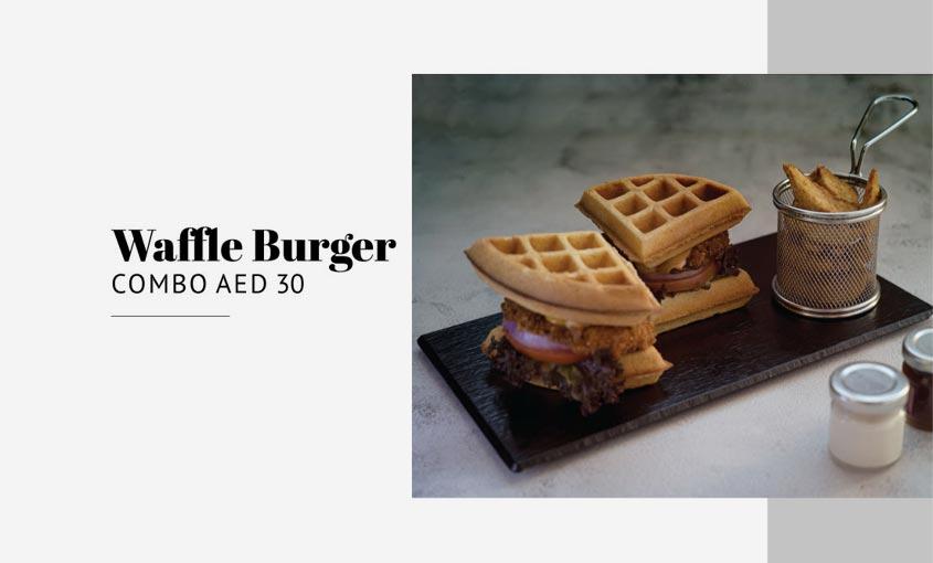 Waffle Burger Combo