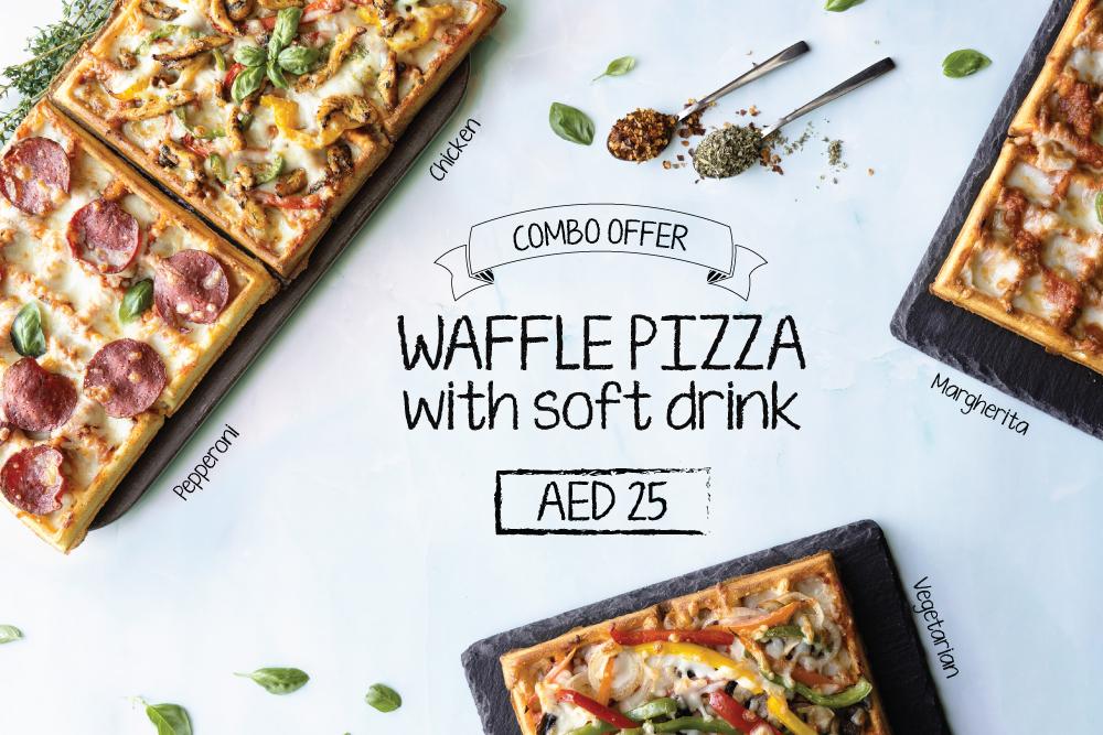 Waffle Pizza Combo